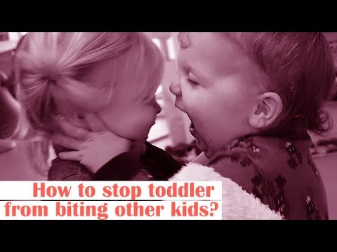How to stop toddler from biting other kids?