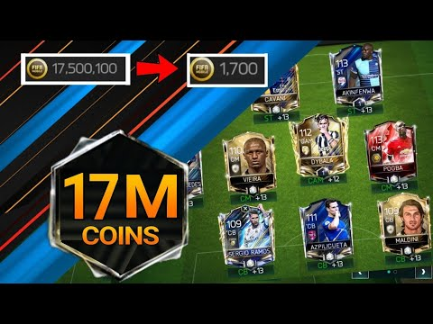 HUGE 17M COINS SQUAD UPGRADE IN 25 DAYS IN FIFA MOBILE 18 S2