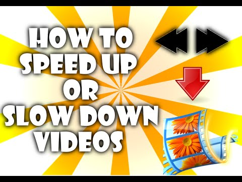How to speed up and slow down videos! (windows movie maker)