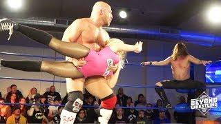 [Free Match] Chris Dickinson v Joey Janela & Penelope Ford | Beyond Wrestling (Intergender Handicap)