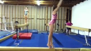 Back Tuck on Beam~ Gymnastics