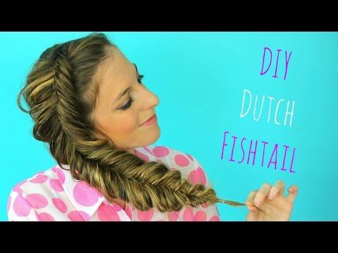DIY Dutch fishtail Braid Hair tutorial | Braidsandstyles12