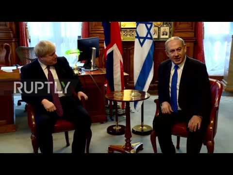 UK: Boris Johnson and Netanyahu reminisce on Balfour Declaration at Foreign Office