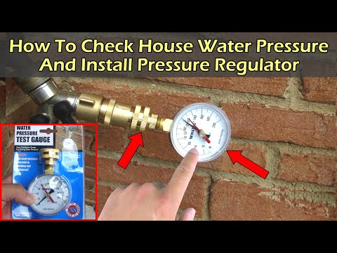 Check Water Pressure On Spigot Faucet and Installing Water Pressure Regulator