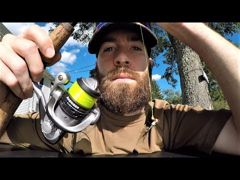 Catching Fish with My OWN BEARD HAIR!? (homemade lure)