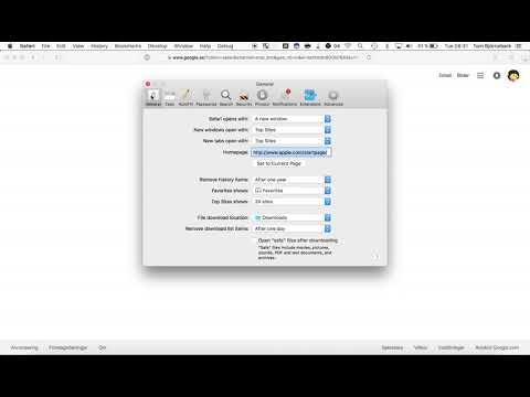 Safari - How to change the startpage - To the point instructions