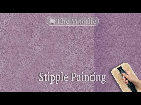 New! Stipple/Antiqued Leather How To Faux Paint by The Woolie (How To Paint Walls) #FauxPainting