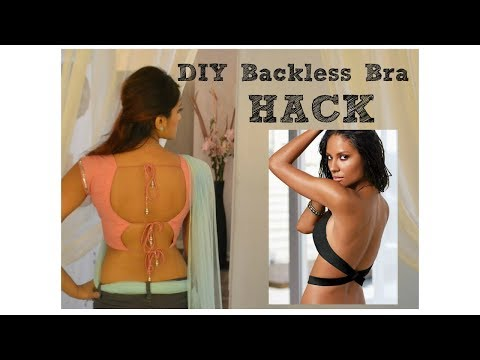 DIY Backless Bra Low Back strapless dress Hack Trick Invisible braless indian beauty secrets saree