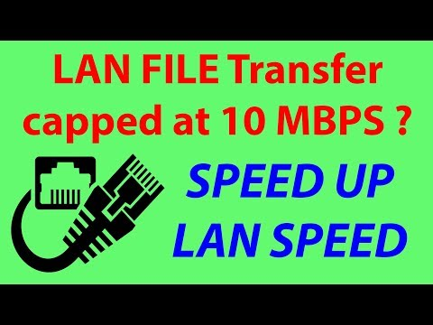 LAN FILE Transfer Capped at 10 MBPS? How to SPEED UP? | Som Tips