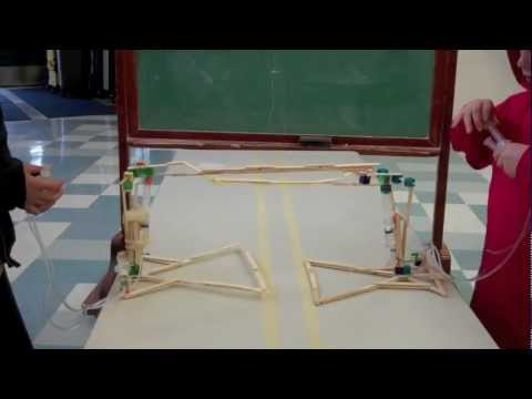 Hydraulic JudoBots in class
