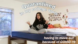 College quarantine day in my life (dorm tour + move out vlog)