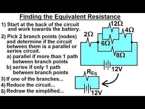 Physics - E&M: Ch 41.3 Ohm's Law & Resistor Circuit Understood (16 of 27) Find Equivalent Resistance