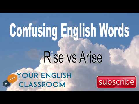 How To Use Confusing English Words - Difference Between Rise or Arise.