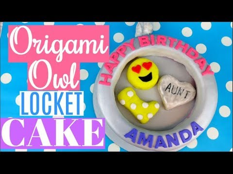 ORIGAMI OWL NECKLACE LOCKET CAKE TUTORIAL