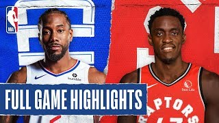 CLIPPERS at RAPTORS | FULL GAME HIGHLIGHTS | December 11, 2019