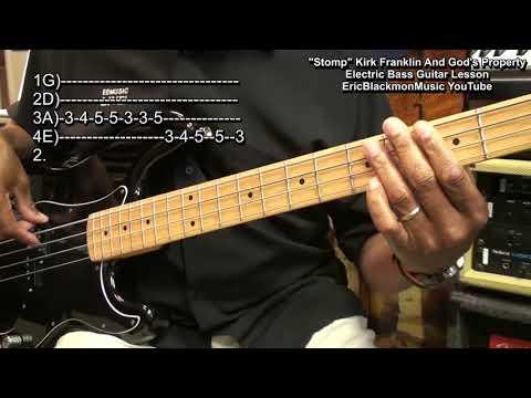 STOMP Kirk Franklin & God's Property Bass Guitar Lesson EricBlackmonGuitar HQ