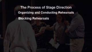 Stage Directing: The Directing Process