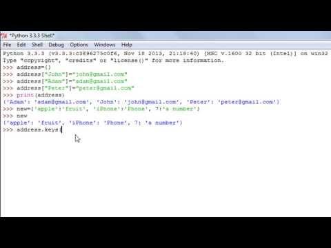 Python Programming Tutorial - 7: Dictionaries