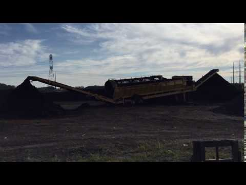 Composting at maple Grove Yardwaste Site