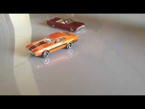 Magnetic and servo steering RC car 1/64 scale