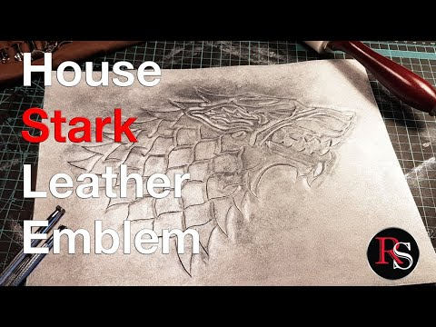 Leatherworking - House Stark Leather Sigil (Leather Carving) From Game of Thrones