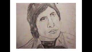 Amitabh bachhan sketch. speed drawing