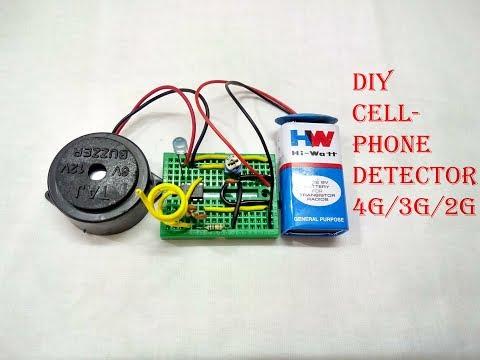 DIY CELL PHONE DETECTOR | 4G | 3G | 2G |