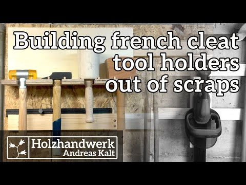 YOU can make french-cleat tool holders entirely from scraps –DIY tool storage ideas