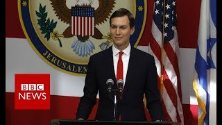 Jared Kushner speaks at the opening cermony of the US embassy in Jerusalem- BBC News