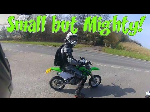 Small but Mighty! Kawasaki kx 65cc Supermoto!