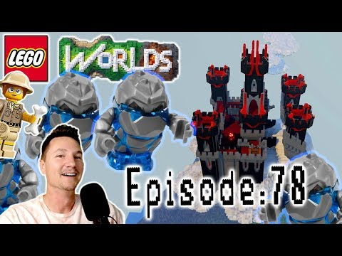 Let's Play Lego Worlds: Episode 78: Dark Castle in the Clouds and Building Jurassic World Part 3!