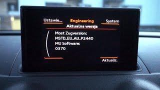 Audi A3 8V MMI (MSTD) red hidden menu (engineering mode) - getplaypk