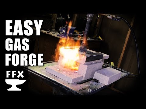 How to make a propane forge for blacksmithing, bladesmithing and heat treating (simple & effective)