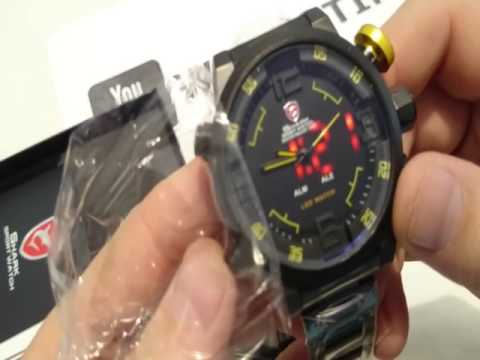 SHARK WATCH Gulper  LED Digital Date Day Sport Watch