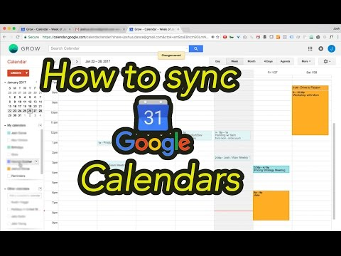 How to Sync Two Google Calendars
