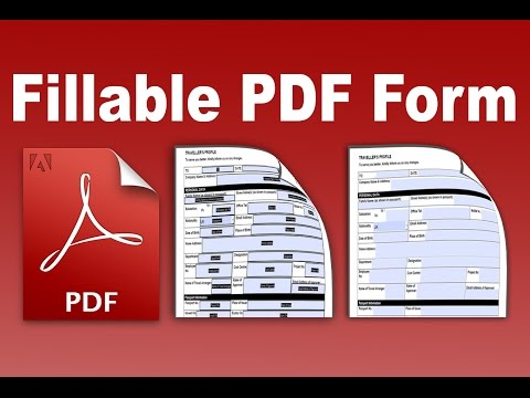 Fillable PDF-  Convert and create an existing form into a fillable PDF