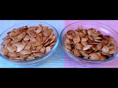 Sweet and Spicy Pumpkin Seeds on stove top and oven