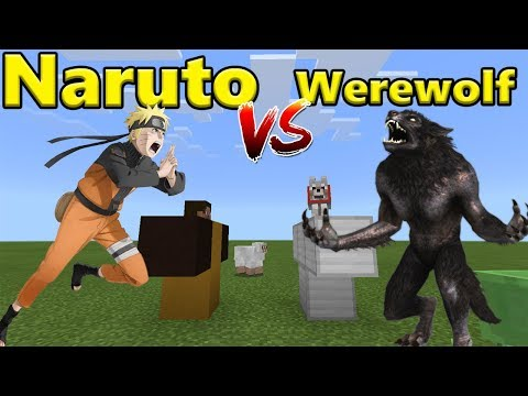 Naruto vs Werewolf | Minecraft PE