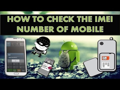 How to find IMEI/MEID number of your android device?