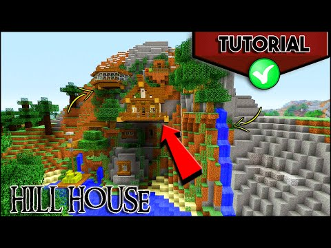 HILL HOUSE | Minecraft: How to make a Cliff House Tutorial | Mountain House | Ps3, PS4, Xbox, Mcpe
