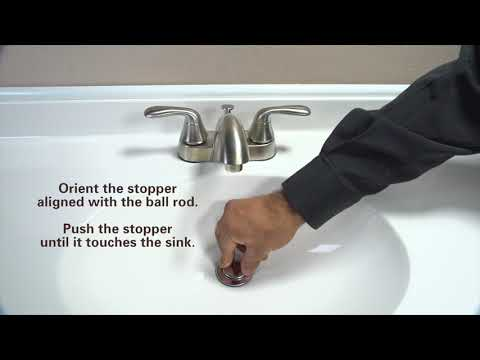 How to Install Flexible Pop-Up Drain