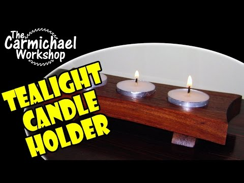 How to Make a Tealight Candle Holder - Easy DIY Woodworking Project