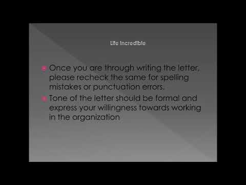 Writing an Effective Job Request letter- Sample, Example & Tips