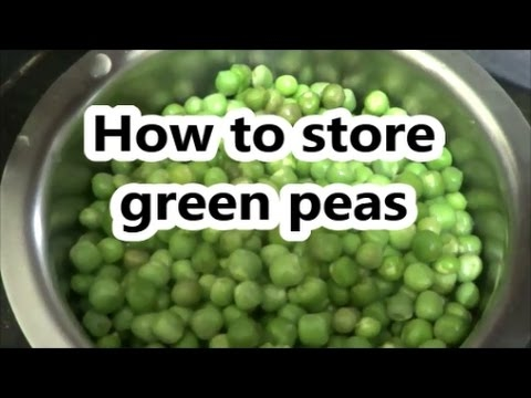 How to freeze green peas for 1year
