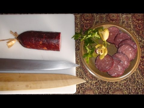 Hunt, cook and eat part 1. (Making salami)