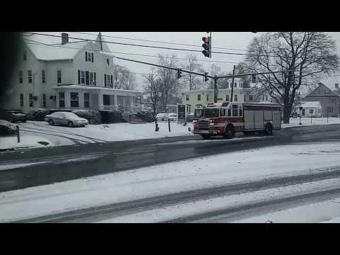 Danbury C.T.  FD squad 1 responding through snow..