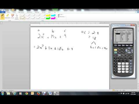 Using TI 83 To Factor Trinomials By Grouping