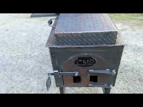 Custom Metal Projects, 30 x 22 Reverse Flow Smoker Insulated Firebox