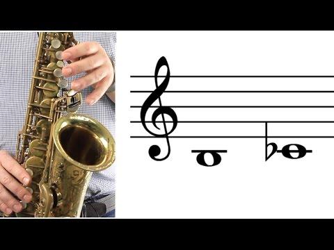 ALTO SAX: How to Play Low B (C-flat)