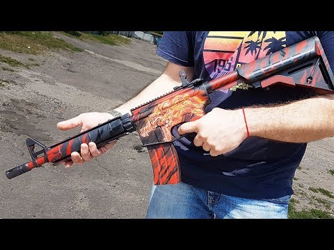 HOW TO MAKE M4A4   HOWL IN REAL LIFE (CS:GO,DIY)